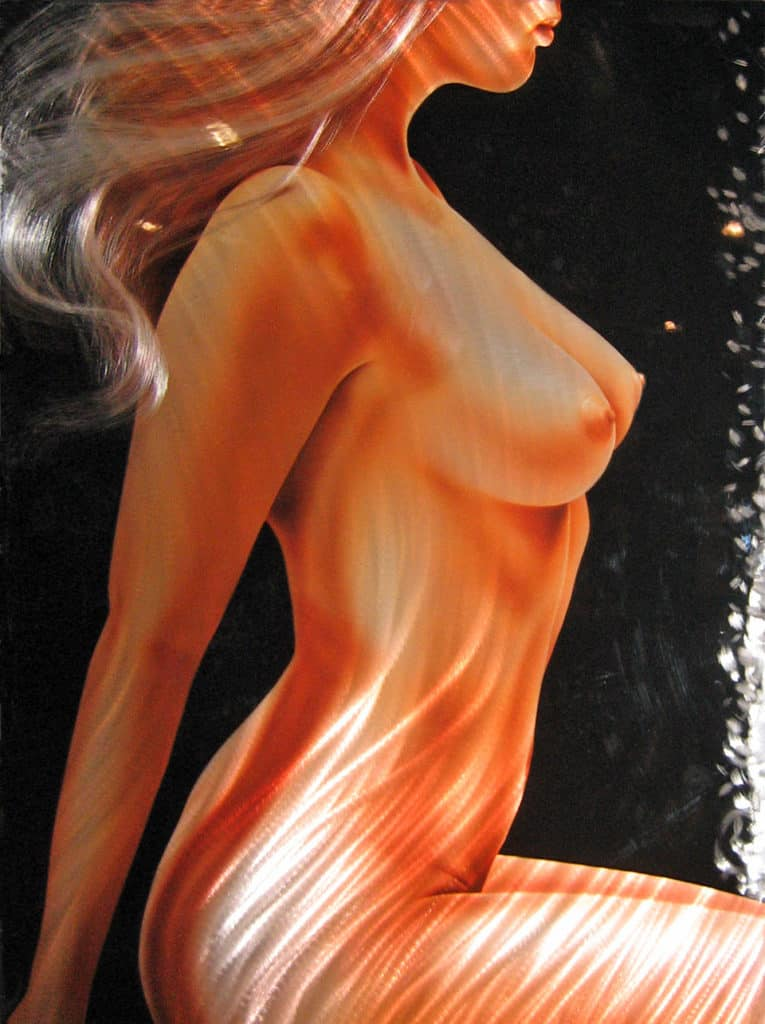 LYNSEY art nude on metal by A.D. Cook