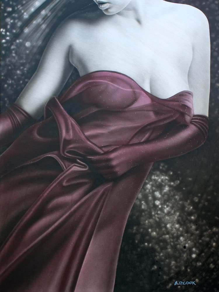 PREMIER figurative painting on canvas by A.D. Cook