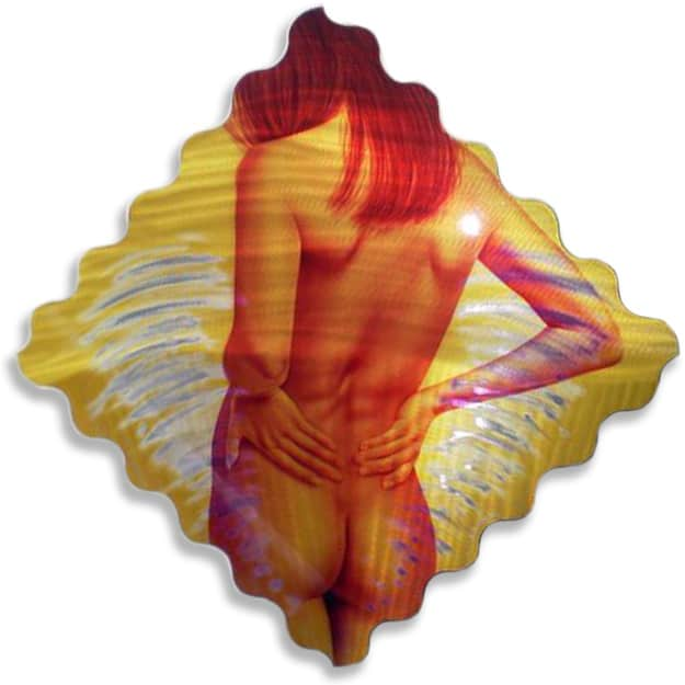 ROSE GOLD art nude on metal by A.D. Cook