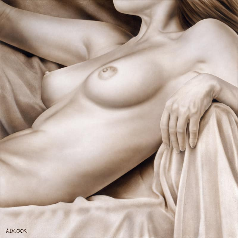 REPOSE painting by artist A.D. Cook