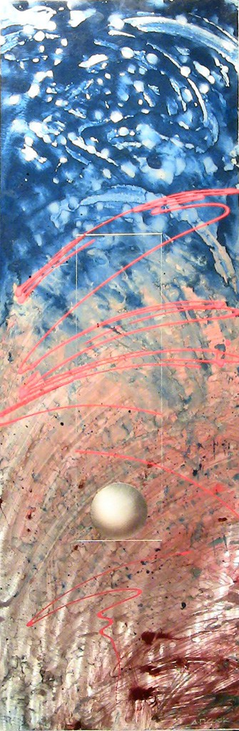ORB 2672 - Peppermint metal abstract by A.D. Cook