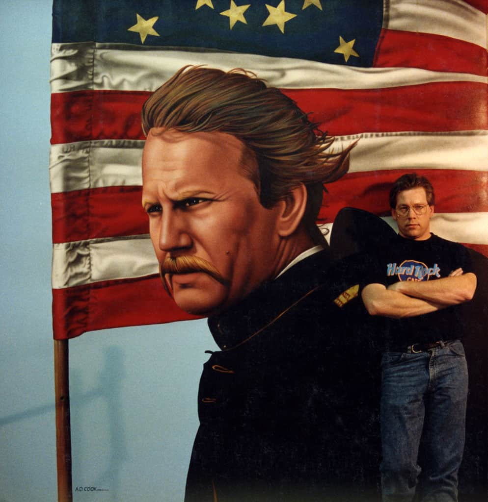 DANCES WITH WOLVES wall mural by A.D. Cook for Hollywood Video