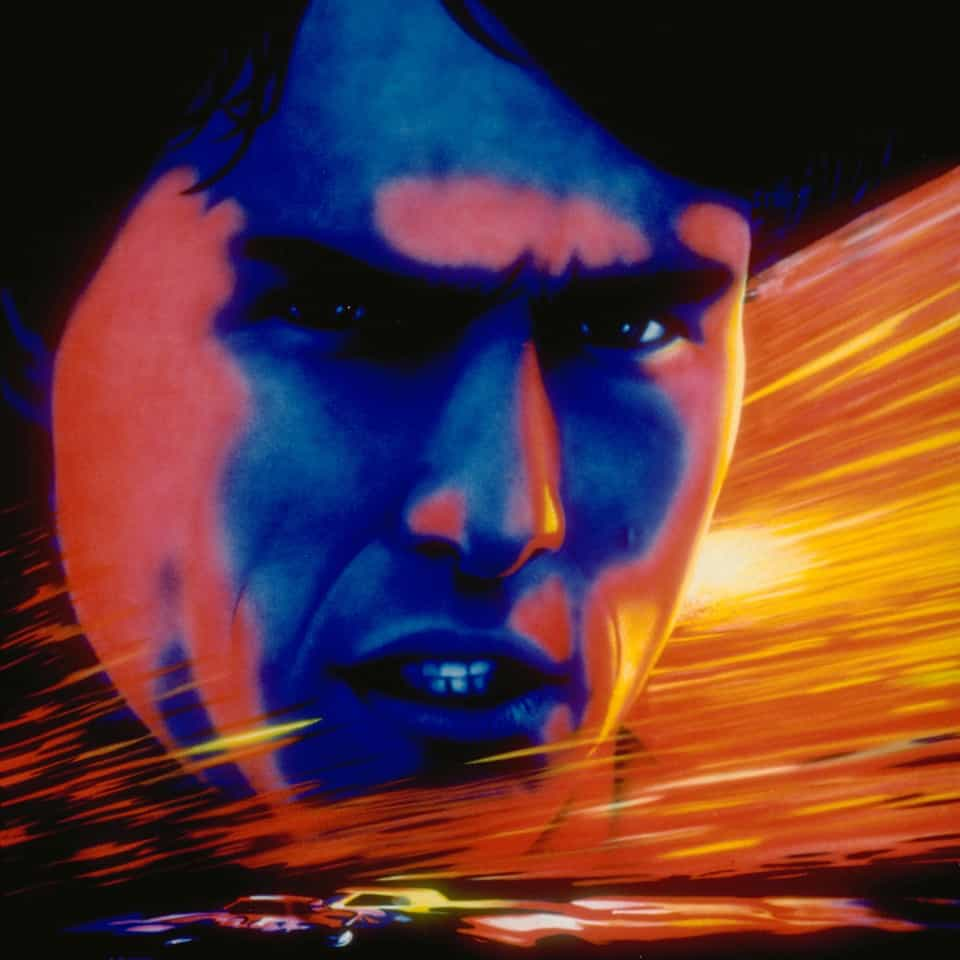 Days Of Thunder wall mural by A.D. Cook for Hollywood Video mural