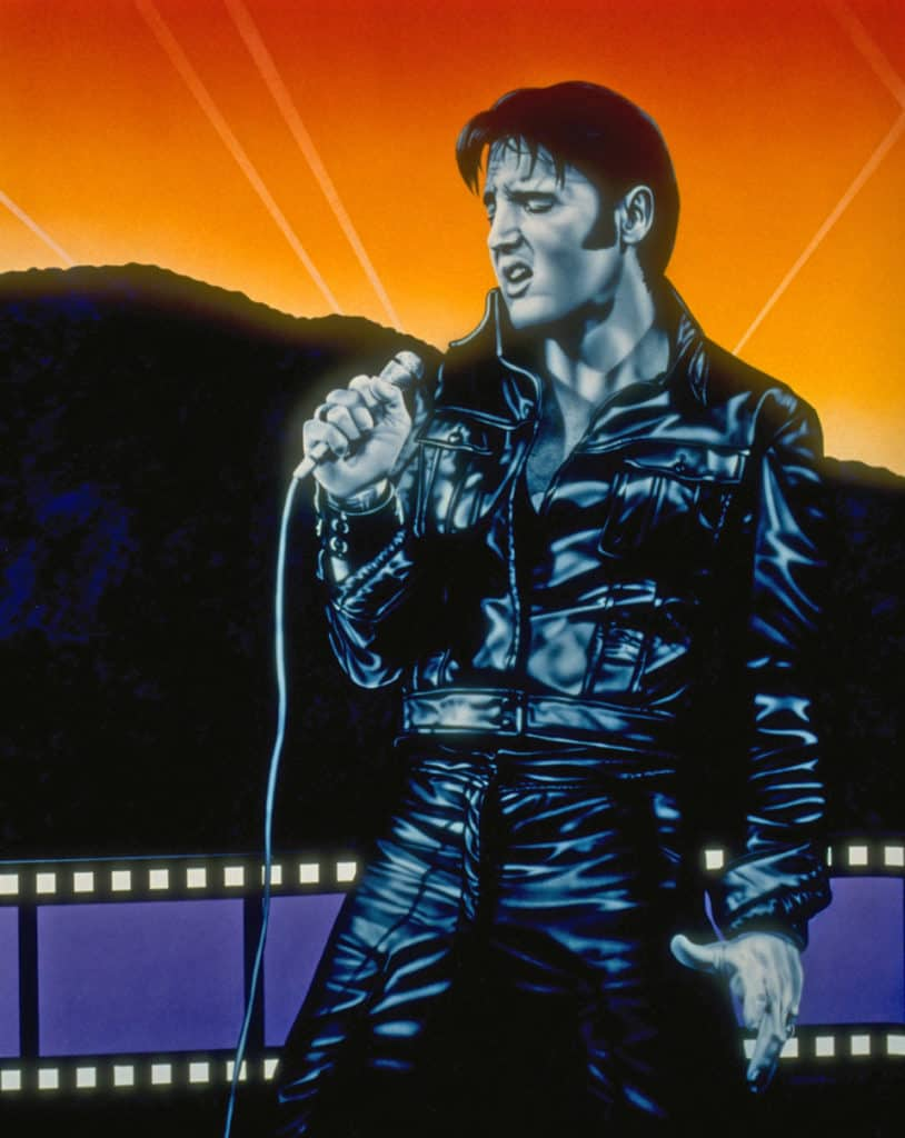 Elvis Presley '68 Comeback Tour mural by A.D. Cook for Hollywood Video