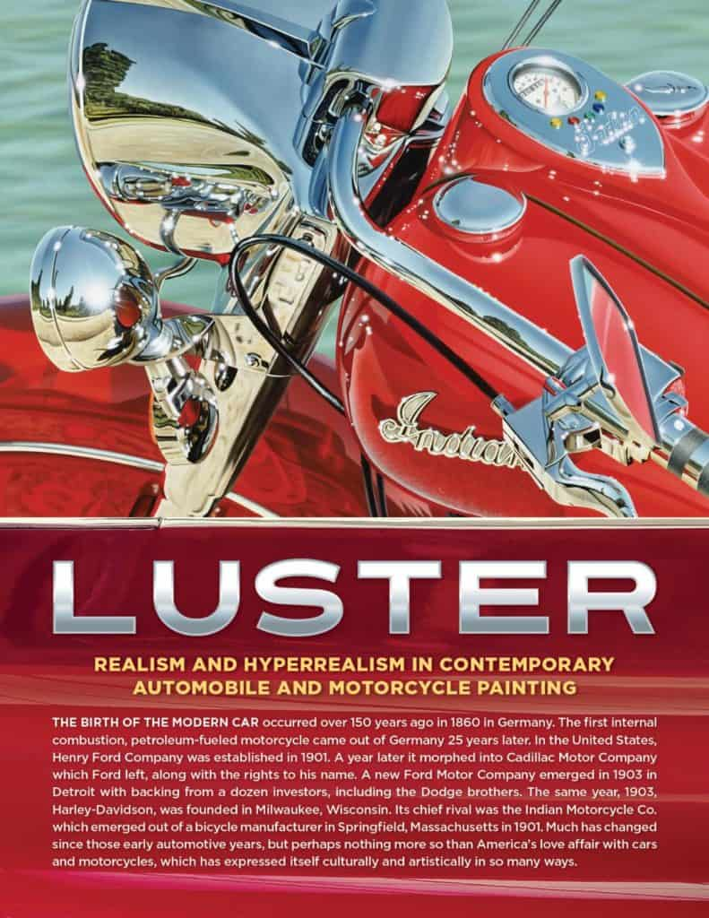 LUSTER EXHIBIT Tearsheet featuring Indian Summer by A.D. Cook