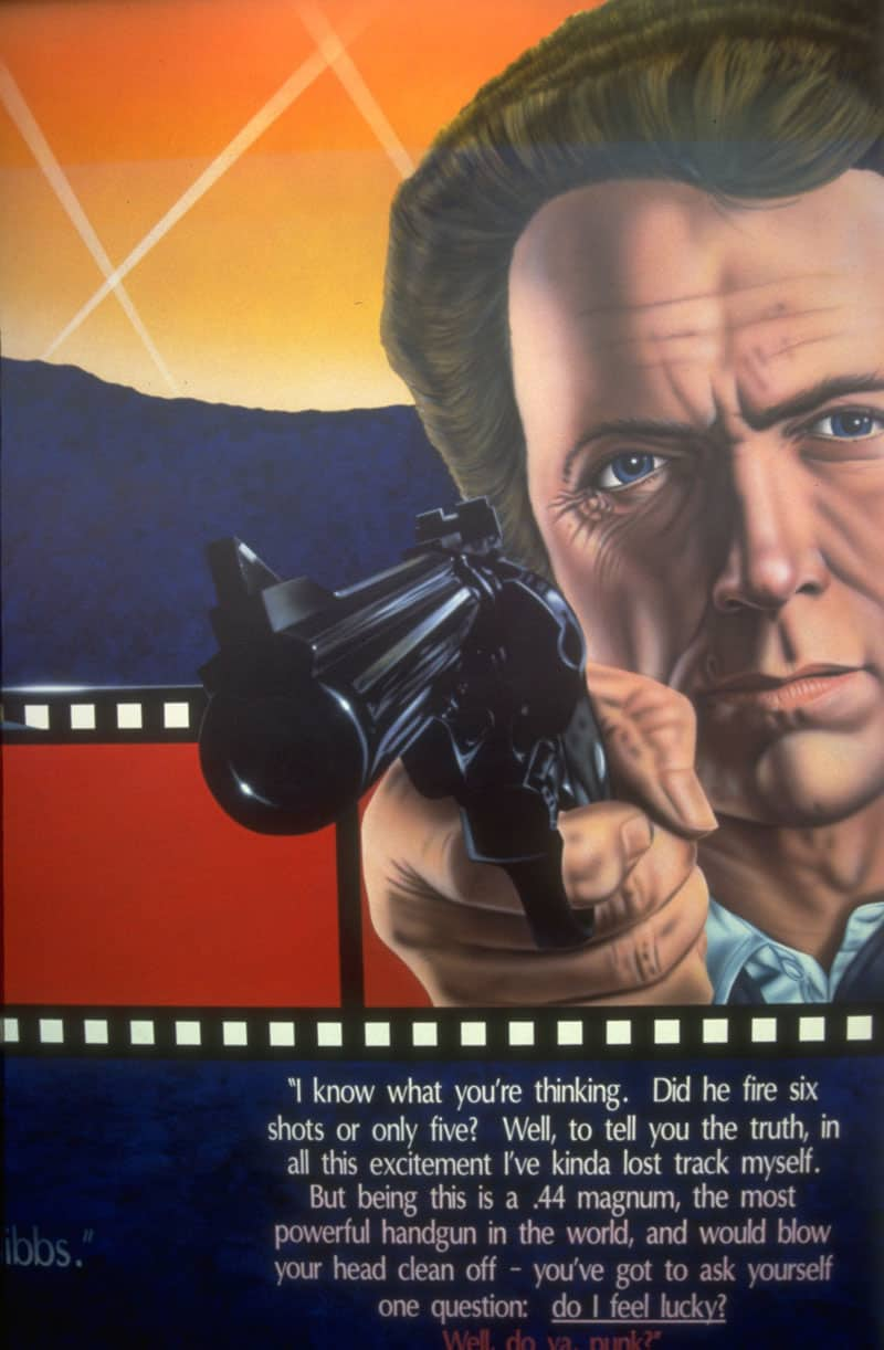 Hollywood Video Mural, Dirty Harry at Lake Oswego, OR