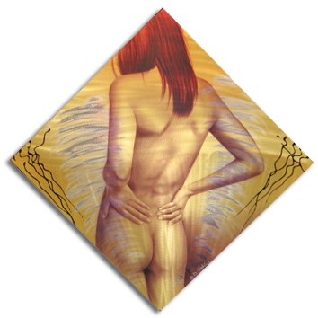 ROSE BOTTOM art nude on metal by A.D. Cook