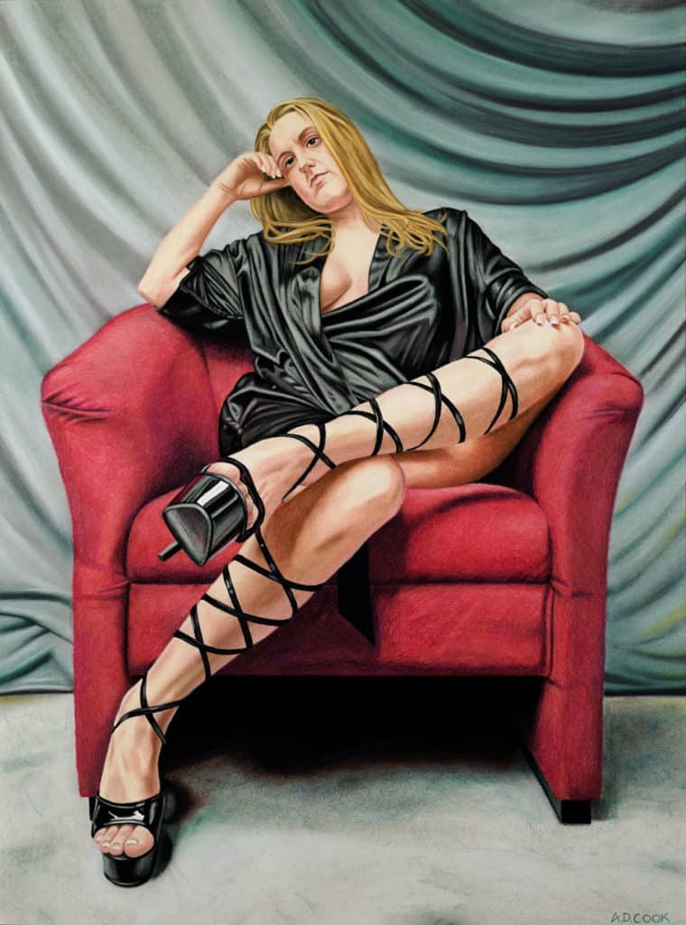 TAKE FIVE pastel figurative art by A.D. Cook