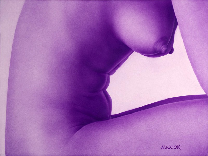 Bon Vivant art nude on canvas by A.D. Cook