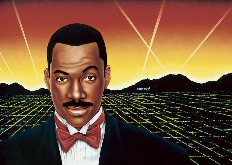 EDDIE MURPHY wall mural by A.D. Cook for Hollywood Video