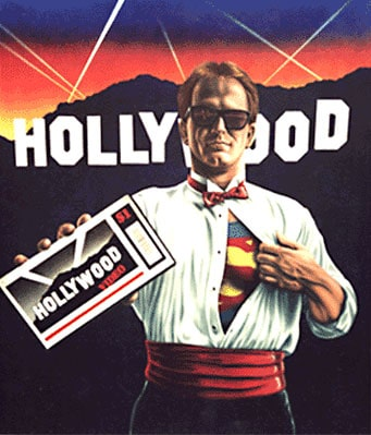 SUPER CSR wall mural by A.D. Cook for Hollywood Video