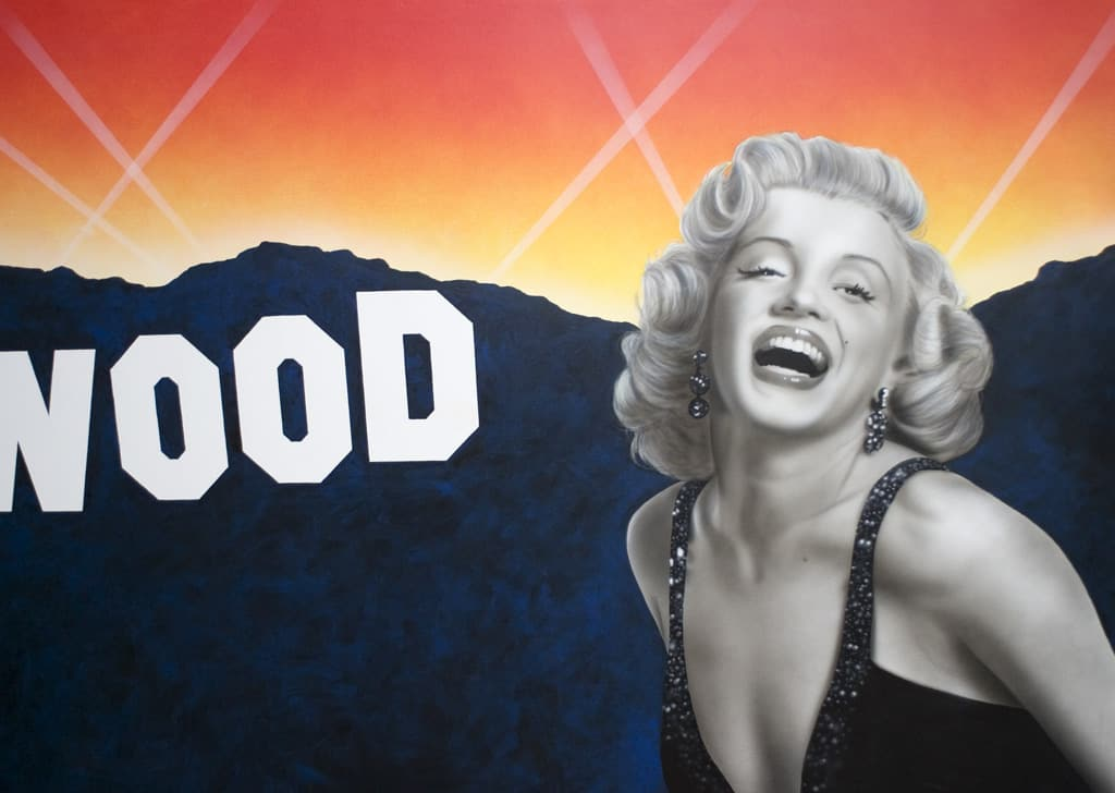 MARILYN MONROE home theater wall mural by A.D. Cook