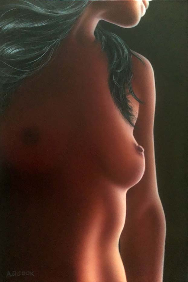 TRESOR art nude painting by A.D. Cook