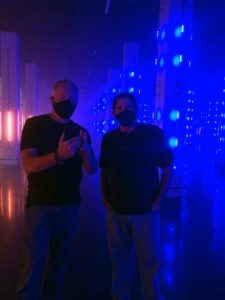 A.D. Cook and Bob Barnes at MUSEUM FIASCO, AREA15