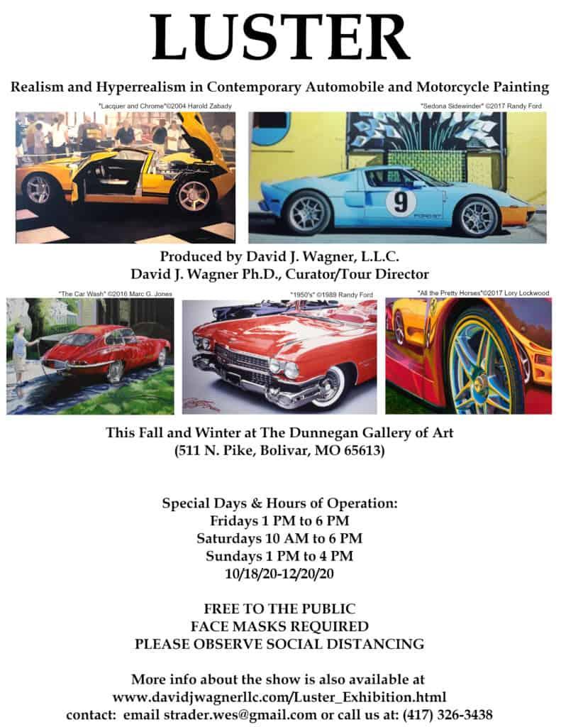 LUSTER at Dunnegan Gallery Flyer